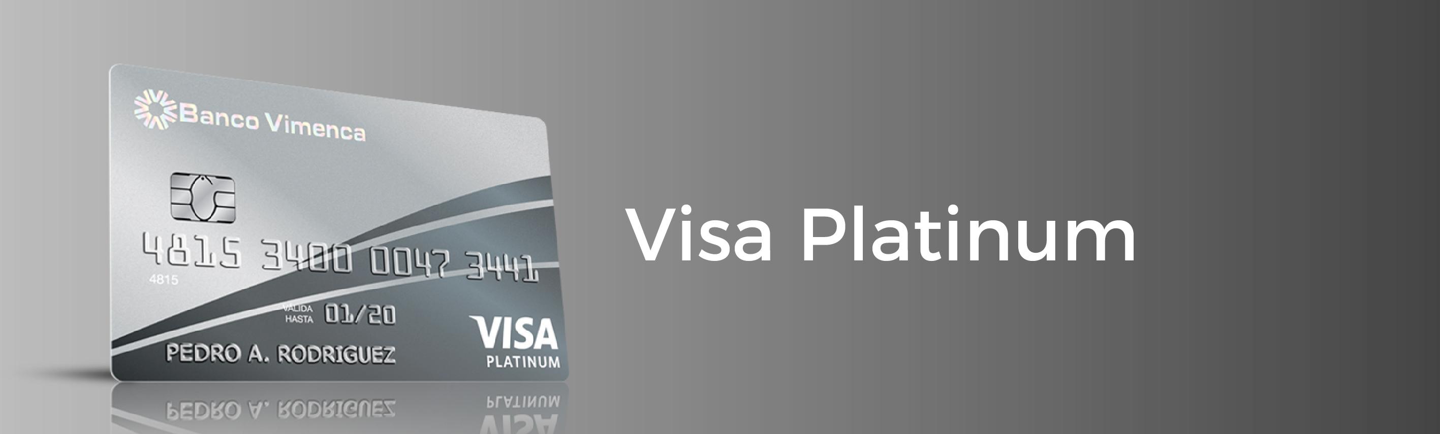 Tarjeta de Crédito Visa Platinum Internacional